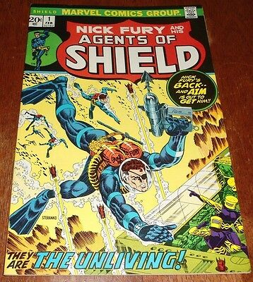 """Nick Fury And His Agents Of Shield # 1 Vf+ (1973 Marvel) """"when The Living Strike"""