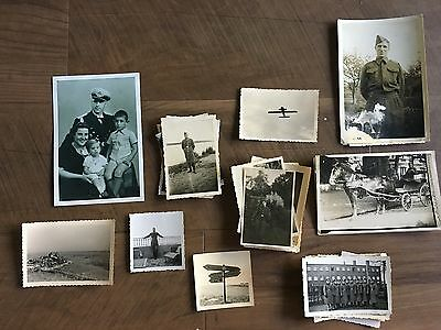 Lot of VTG WW2 WWII Photos c. 1940's - Planes, Aircraft, and Soldiers (L8-G2)