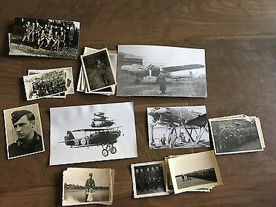 Lot of VTG WW2 WWII Photos c. 1940's & 1930's- Planes and Soldiers (L8-G4)