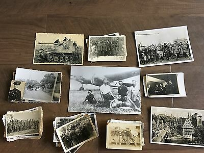 Lot of VTG WW2 WWII Photos c. 1940's - Planes, Aircraft, and Soldiers (L8-G5)