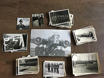Lot of VTG WW2 WWII Photos c. 1940's - Planes, Aircraft, and Soldiers (L8-G6)