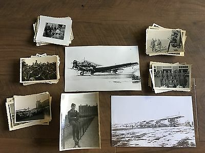 Lot of VTG WW2 WWII Photos c. 1940's - Planes, Aircraft, and Soldiers (L8-G7)