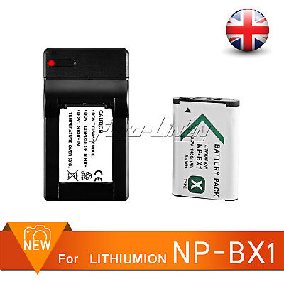 1450mAh NP-BX1 Battery + USB Charger For Sony DSC-WX500 RX100 RX100M4 UK Fast