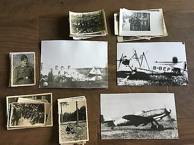 Lot of VTG WW2 WWII Photos c. 1940's - Planes, Aircraft, and Soldiers (L8-G8)