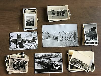 Lot of VTG WW2 WWII Photos c. 1940's - Planes, Aircraft, and Soldiers (L8-G9)