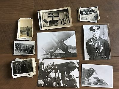 Lot of VTG WW2 WWII Photos c. 1940's - Planes, Aircraft, and Soldiers (L9-G4)