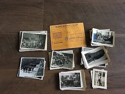 Lot of VTG WW2 WWII Photos c. 1940's - Soldiers & Life During War  (L9-G6)