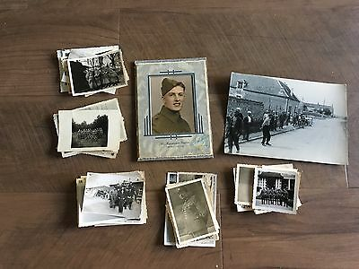 Lot of VTG WW2 WWII Photos c. 1940's - Soldiers & Life During War (L9-G7)
