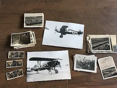 Lot of VTG WW2 WWII Photos c. 1940's - Planes, Aircraft, and Soldiers (L9-G8)
