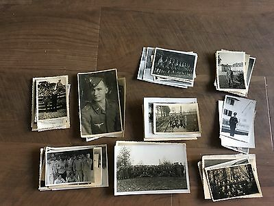 Lot of VTG WW2 WWII Photos c. 1940's - Soldiers & Life During War (L9-G9)