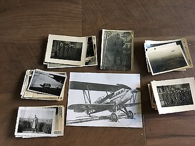 Lot of VTG WW2 WWII Photos c. 1940's - Planes, Aircraft, and Soldiers (L9-G10)