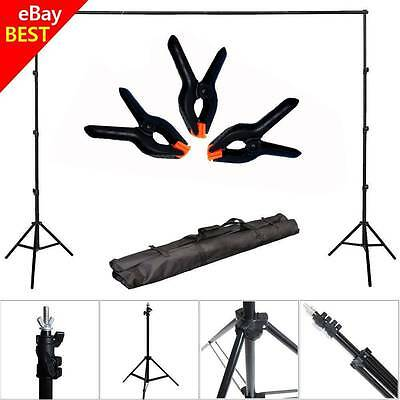 10Ft Adjustable Background Support Stand Photo Crossbar Photography Kit Backdrop