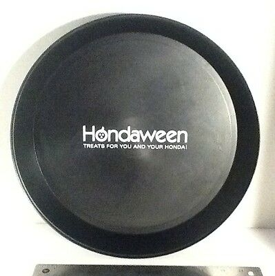 Hondaween Treats For You And Your Honda ! Rare Dealer Promo Halloween Tray 12""