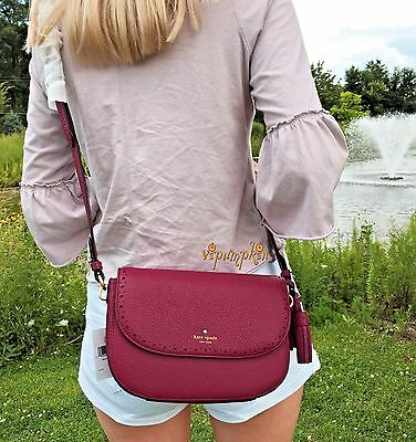 Kate Spade James Street Adelaide Leather Shoulder Bag Crossbody Merlot