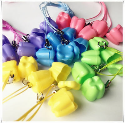 Milk Teeth Holder Boxes, plastic, with necklace, tooth shaped, baby, kids Toys
