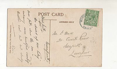 IRELAND 1914 PPC - LIVERPOOL. WARREN PONT/ Co DOWN RUBBER CDS.CLOUGHMORE (STONE)