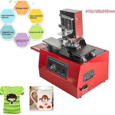 Electric Pad Printer Printing Machine DIY T-Shirt Cup INKPRINT PVC MUG Pen Logo