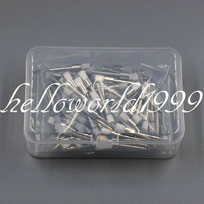 100 Pcs Dental White Nylon Polishing Flat Latch Polisher Prophy Brush Disposable