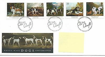 GB - FIRST DAY COVER - FDC - COMMEMS -1991- DOGS - Pmk PB