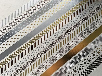 Recollections Washi Tape Tube, Metallic Gold Silver 15 Rolls washi tape, planner