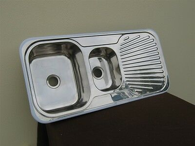 Kitchen sink stainless steel 1&1/4 bowl BRAND NEW in box