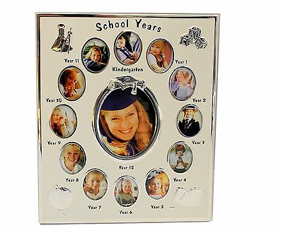 My School Years Silver Photo Frame School Year Memory 13 Hole Gallery
