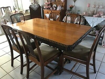 Jacobean dinning table and chairs