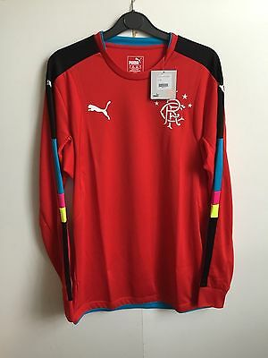 Puma Mens Rangers 2016/17 L/S GK Match Shirt No Sponsor - Medium - Red - BNWT