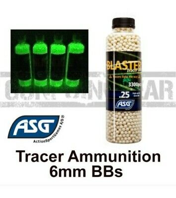 ASG Tracer Blaster 6mm Airsoft BB's Accurate Airsoft Ammo - 3300 0.20 & 0.25 BB