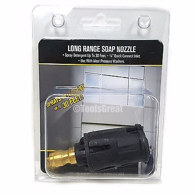 BE Quick Connect Long Range Pressure Washer Soap Nozzle Tip 1/4""
