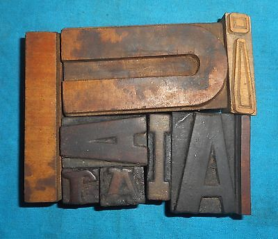 Mix 7 Letterpress Letter Wood Type Printers Block collection Bt628