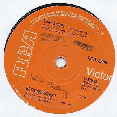 "The Sweet - BlockBuster! - 7"" Single"