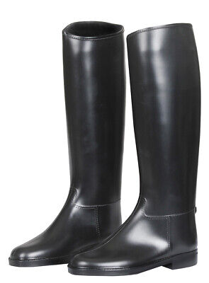RED Horse Long Tall Faux Leather Horse Riding Boots