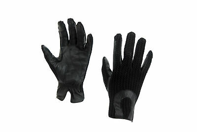 HORKA Crochet Leather & Cotton Horse Riding Gloves