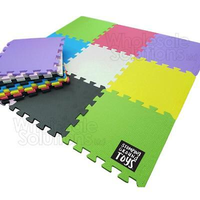 18 Tiles Eva Kids Play Flooring Foam Coloured Interlocking Activity Fun Mats Mat