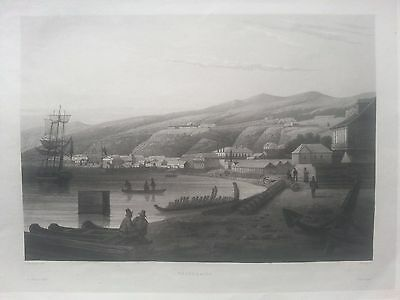 Valparaiso view Aquatint 1835