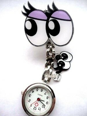 Nurse Watch Optician Student Vet Watch Eyes Eyelashes Charms Double Vision Gift