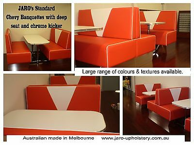 Retro Chevy Bench Chairs - Restaurant cafe, banquette seat, booth, dining chairs