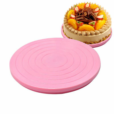 Small Round Rotating Cake Plate Decor Turntable Revolving Kitchen Display Stand