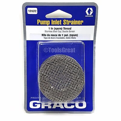 Genuine Graco 181072 Paint Sprayer Foot Inlet Filter