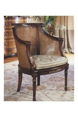 Double Rattan Armchair with Cushion Antique Reproduction NEW 7039