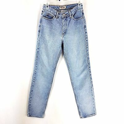 Vtg Guess Jeans Size 28 Light Wash High Rise Mom Straight Leg 90s Denim Cotton