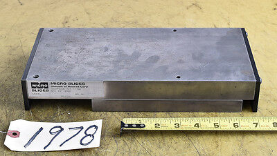 Slide Table; Linear Bearings; Micro-Slide Model 6124-12 (CTAM #1978)