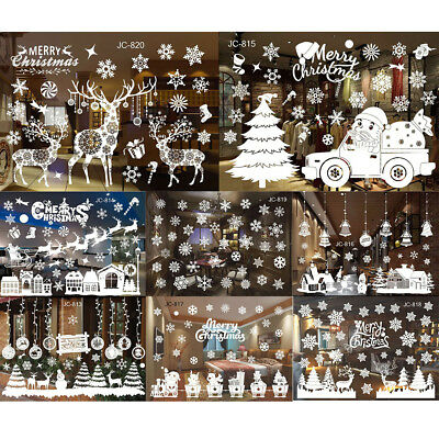 Merry Christmas Wall Art Removable Home Window Wall Stickers Decal Decoration