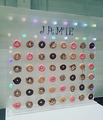Party Supplies Acrylic/perspex Clear 48/96 Donut Wall Stand. Custom Made