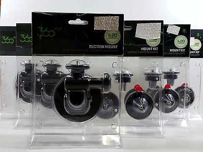 360 Fly camera mount bundle package. 3 Suction mounts and 3 mount kits.