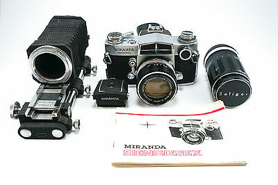 **Very Good Condition** Miranda Sensorex Bundle: 50 + 135 lens, bellows, finder