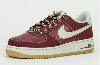 NIKE AIR FORCE 1 Premium (GS) 748981 600 Youth Size Team Red