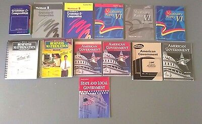 A Beka Book 12th Grade Lot Grammar Composition US History Jesus Followers