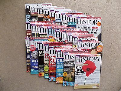24 Issues BBC History Magazine from 2008 - 2017 see itemised description